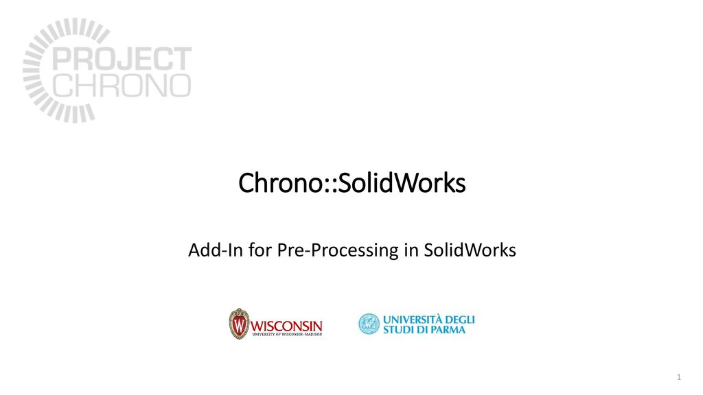 Add-In for Pre-Processing in SolidWorks - ppt download
