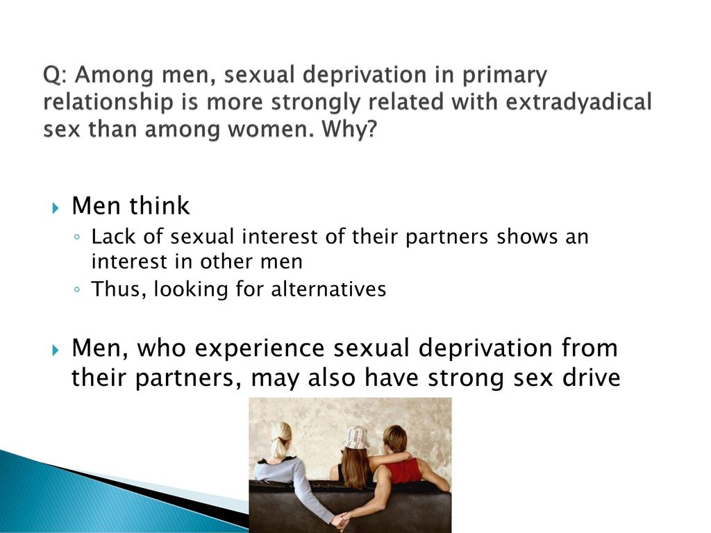 Sexual deprivation in men