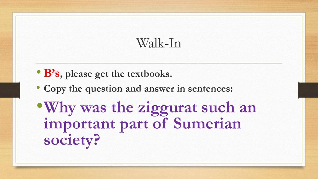 Why was the ziggurat such an important part of Sumerian