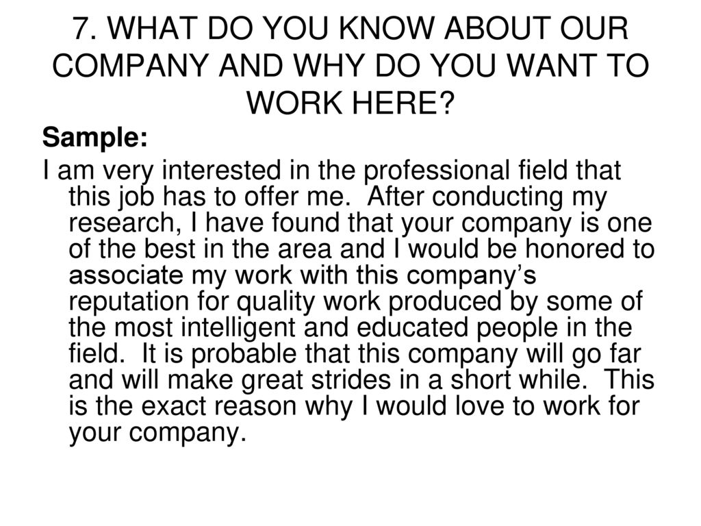 """Here in why you working interested are Answering """"What"""