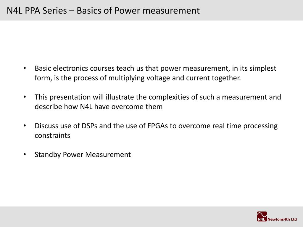 Power Analysis Theory and testing to IEC62301/EN ppt download