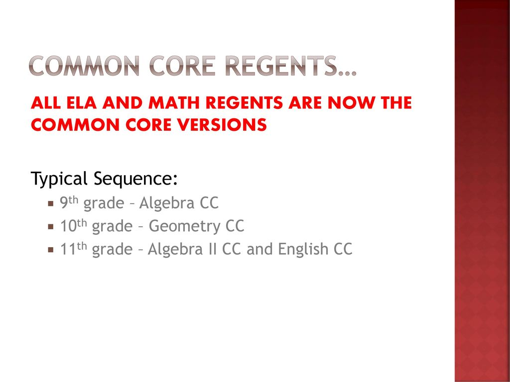 Common Core Regents All Ela And Math Regents Are Now The Common Core Versions