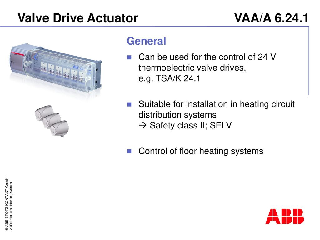 Abb I Bus Knx Valve Drive Actuator Vaa A Ppt Download Triac Wiring Diagram 3