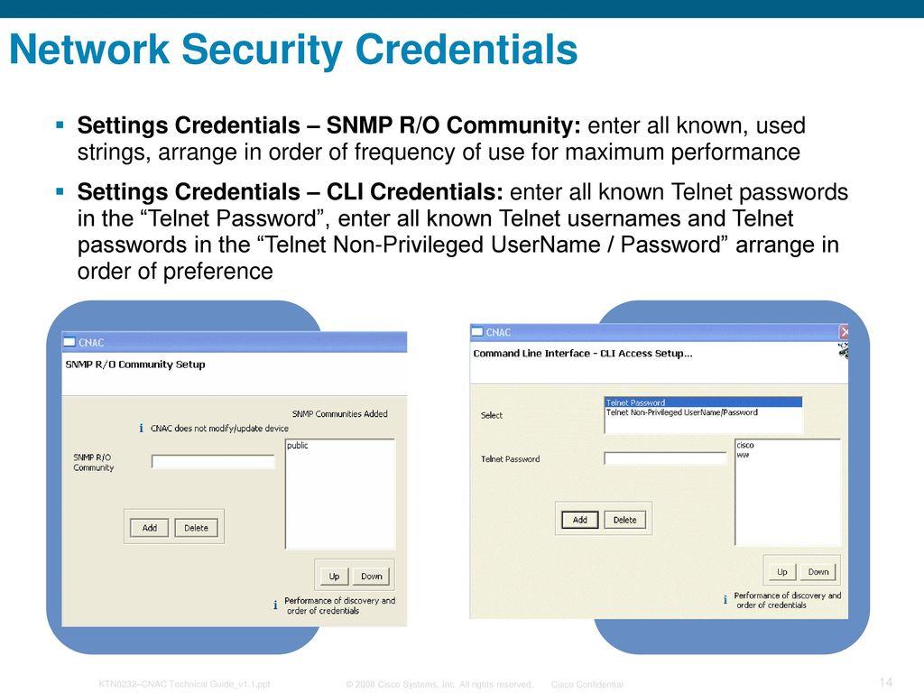 Cisco Network Asset Collector (CNAC) 1 2 Implementation Training