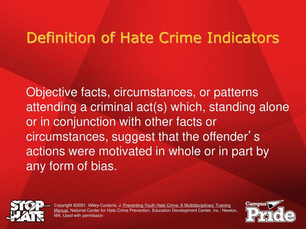 understanding hate crime law - ppt download