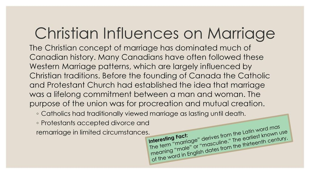 is marriage a christian term