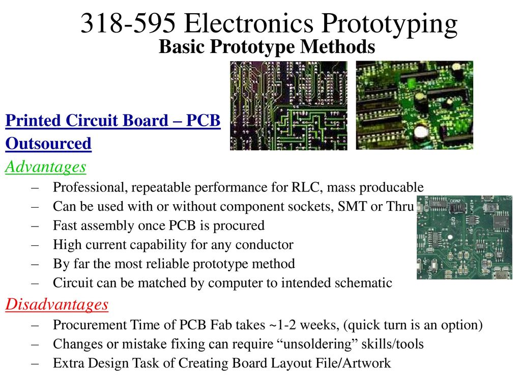 Prototyping Electronic Assemblies Ppt Download Printed Circuit Board Assembly High Precision Pcb Smt Dip 10 Basic Prototype Methods Outsourced Advantages Professional Repeatable Performance