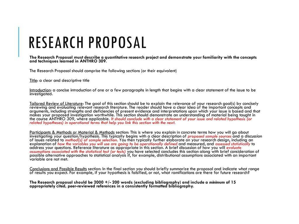 research proposal results section example