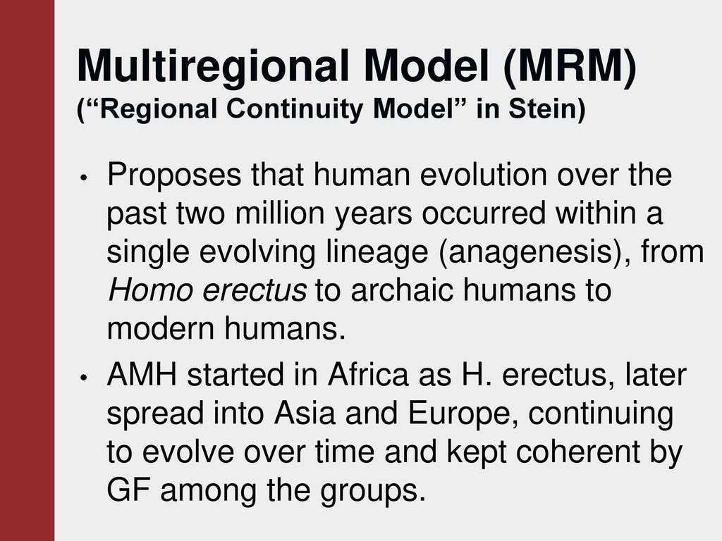 regional continuity model