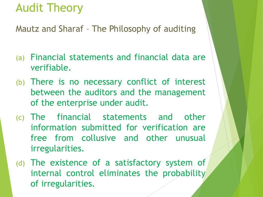 The Philosophy of Auditing
