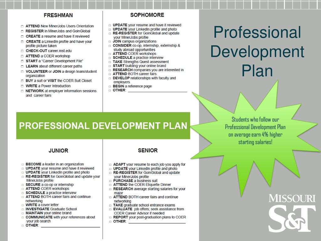 17 Professional Development Plan
