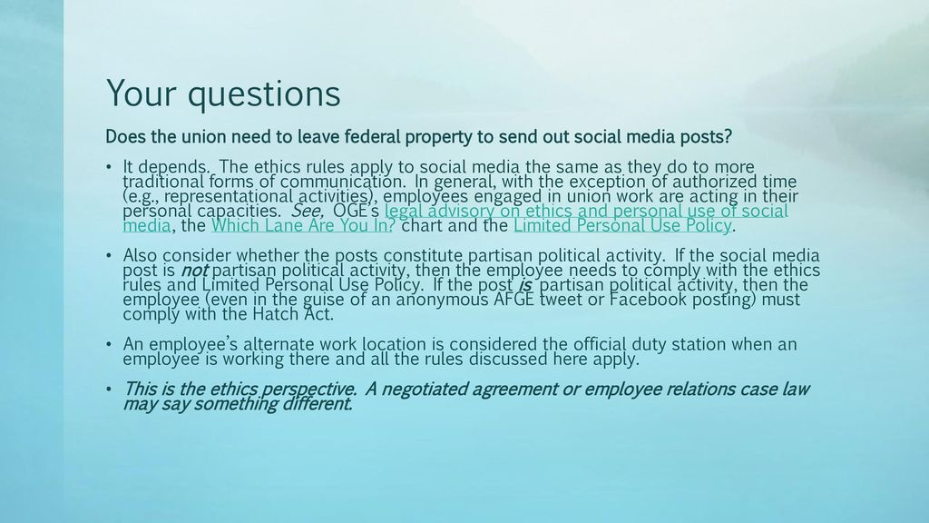 Ethics, Outreach & Lobbying - ppt download