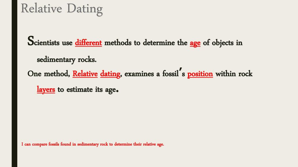 what are the different methods of dating fossils
