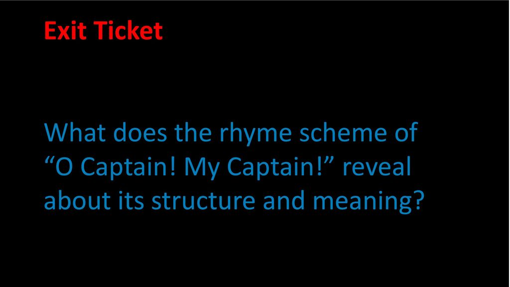 oh captain my captain poem meaning