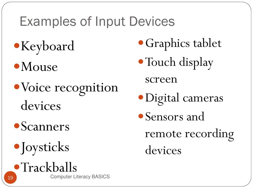 examples of voice input devices