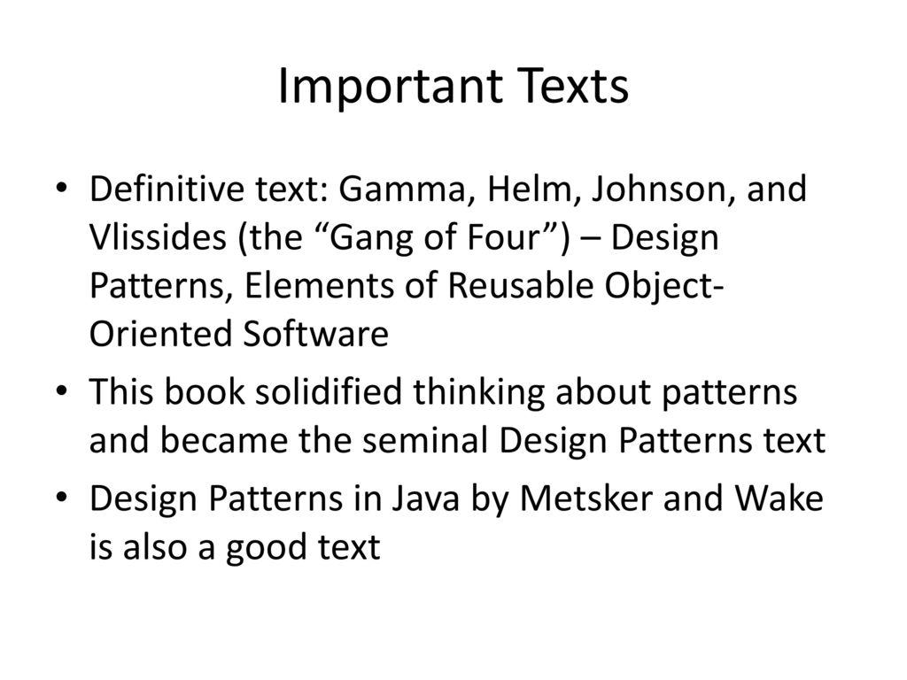 Gang Of 4 Design Patterns Simple Inspiration Design