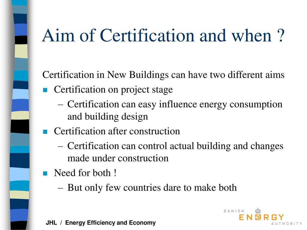Energy Certification Of New Buildings Ppt Download