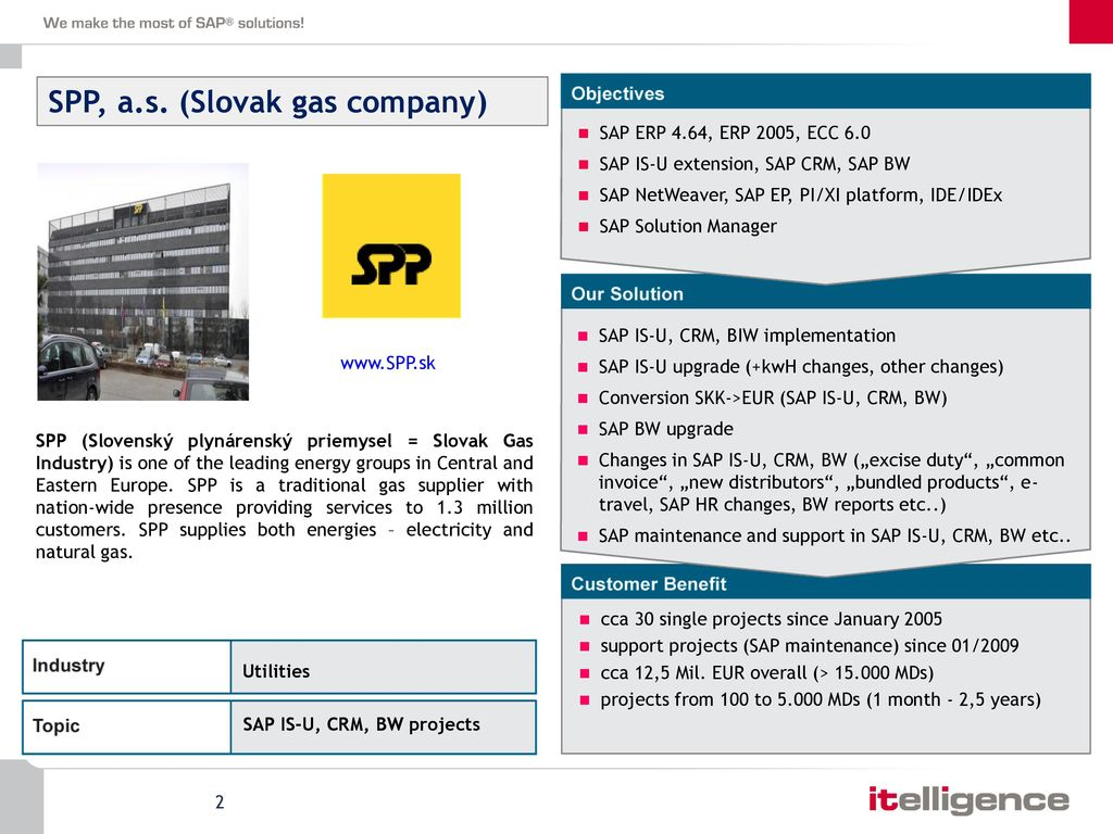 itelligence Slovakia, s r o  Utilities references - ppt download