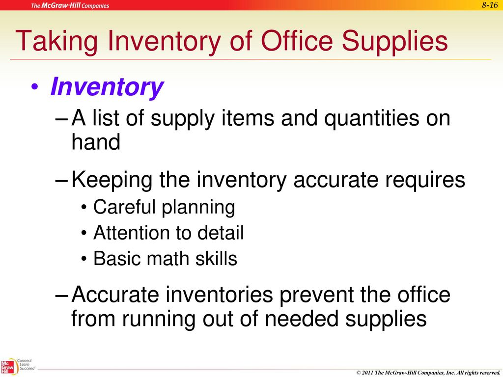 Managing Office Supplies Ppt