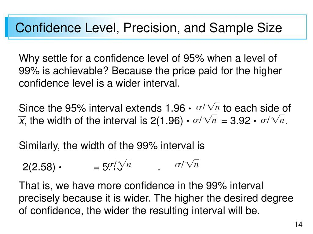 Basic Properties Of Confidence Intervals