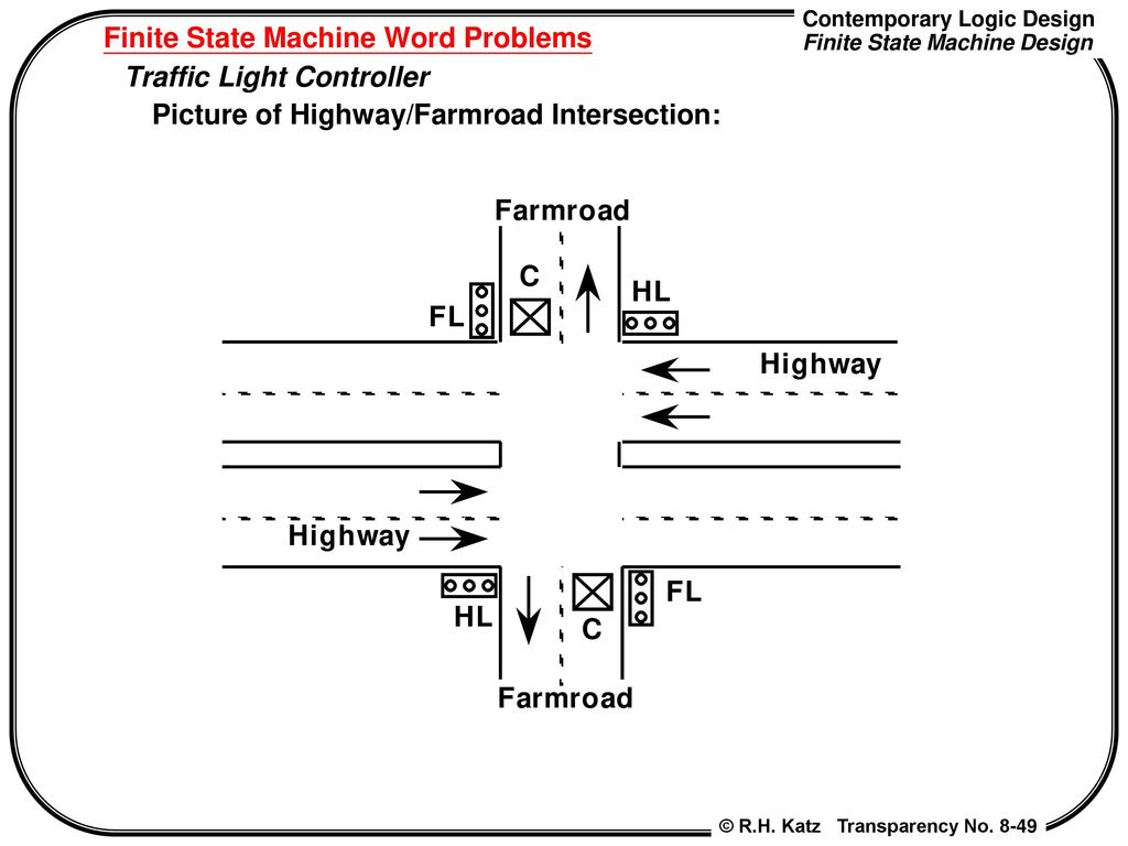 Chapter 8 Finite State Machine Design Contemporary Logic Traffic Light Diagram Word Problems