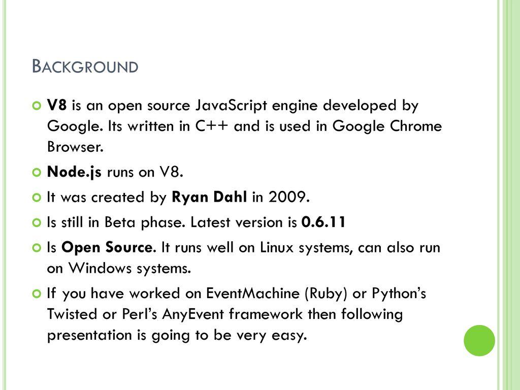 The Server-side JavaScript - ppt download