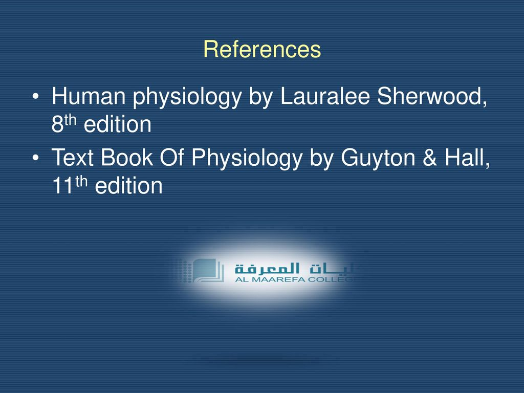 References Human Physiology By Lauralee Sherwood 8th Edition
