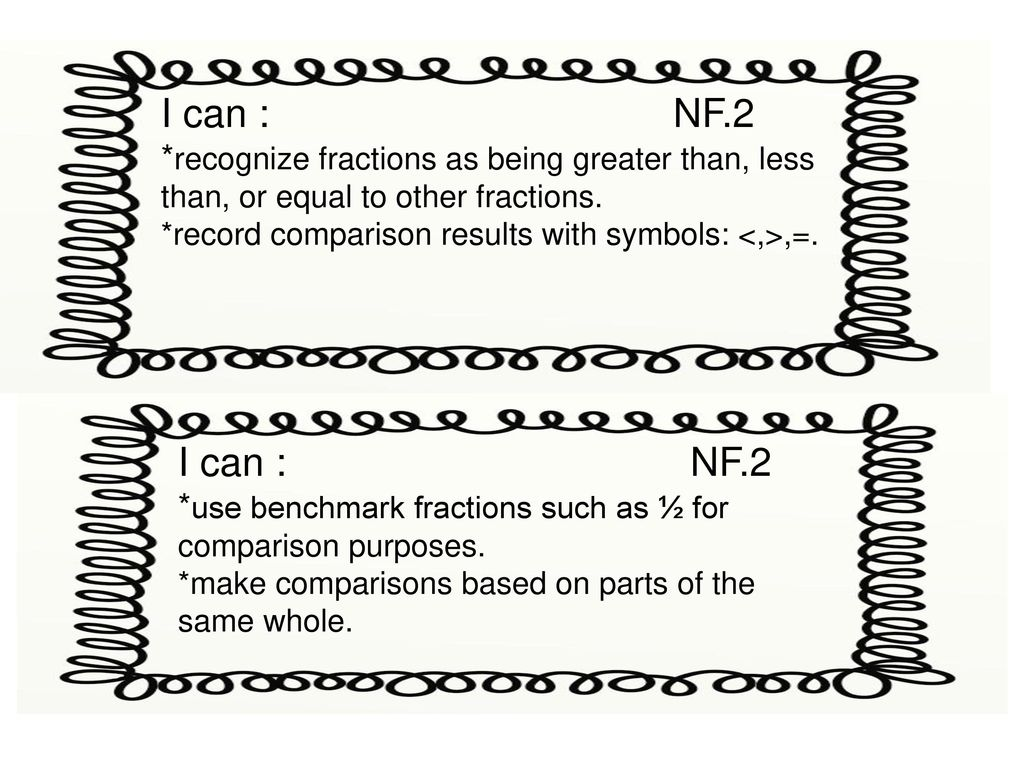i can : nf.1 *recognize and identify equivalent fractions with