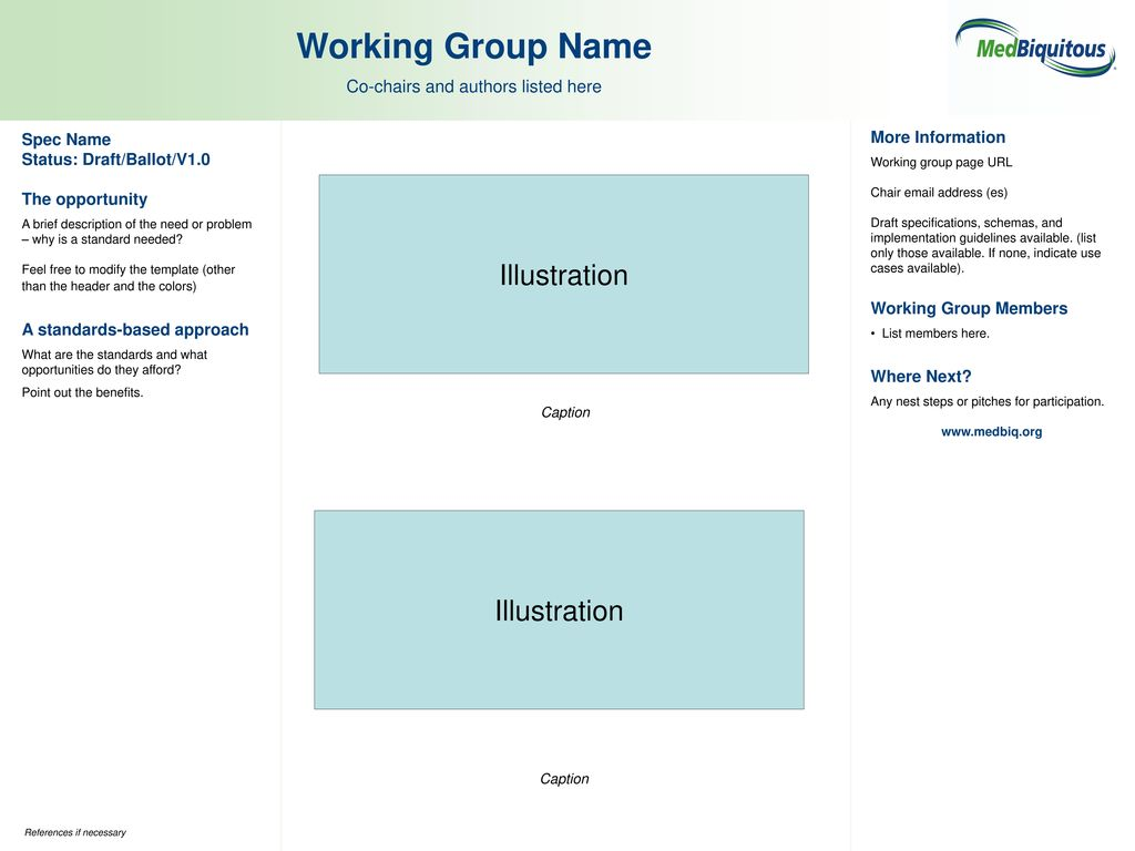 working group list template