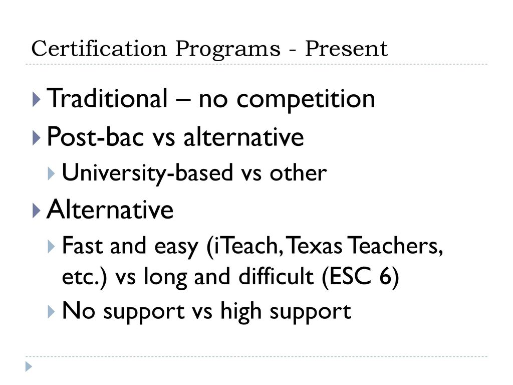 Certification Programs Ppt Download