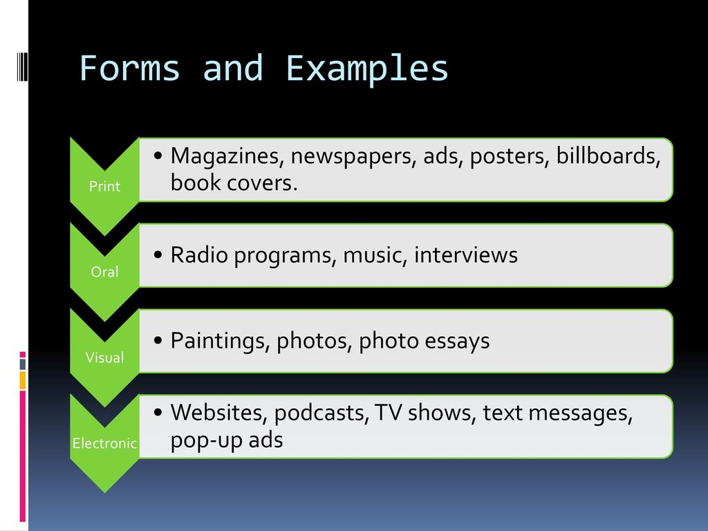 visual media examples