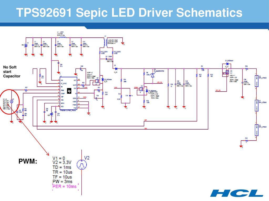 Tps92691 Sepic Led Driver Simulation Ppt Download 3v Circuit Schematics