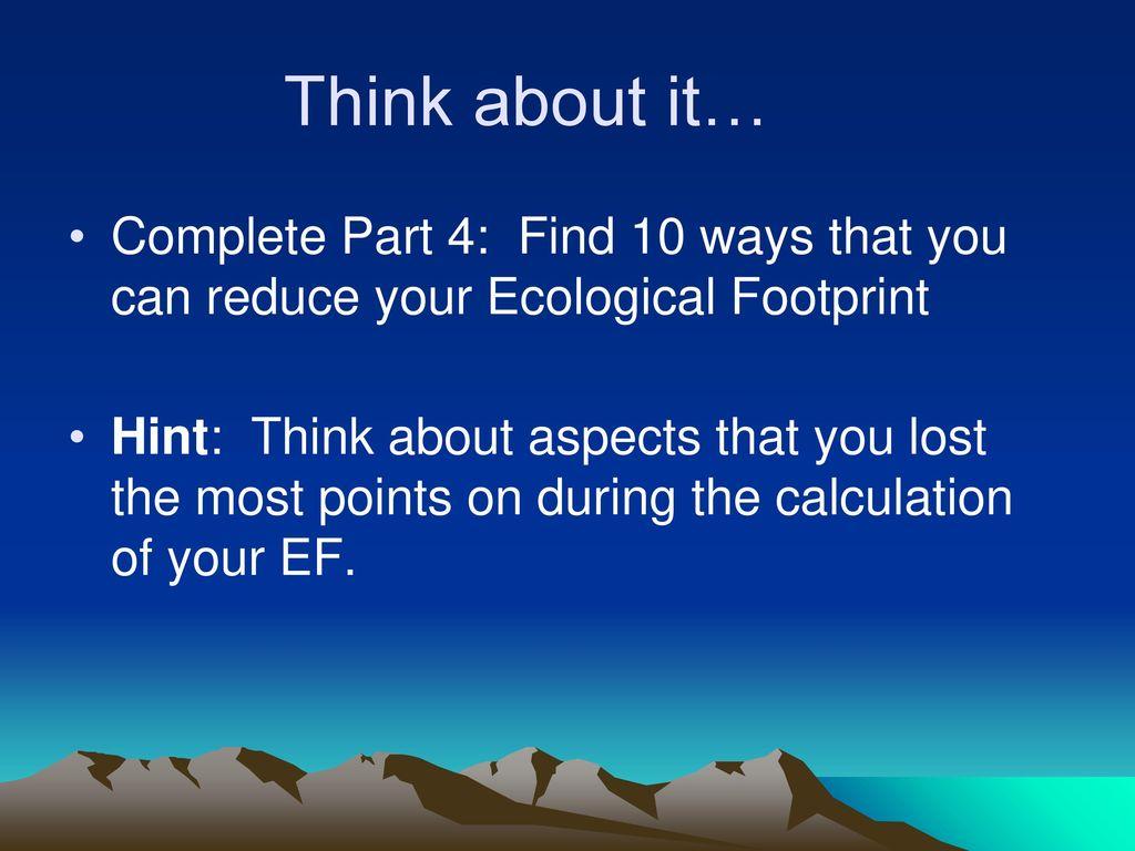 Ecological Footprint Ppt Download