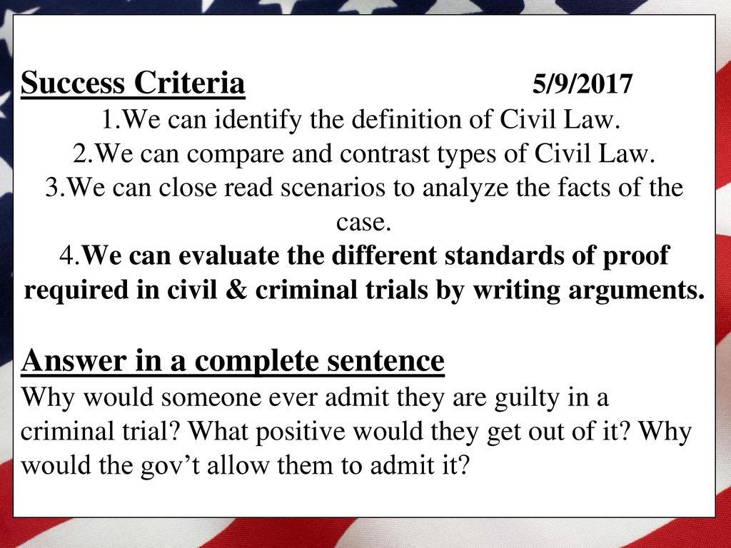 hsa review: civil law. - ppt download