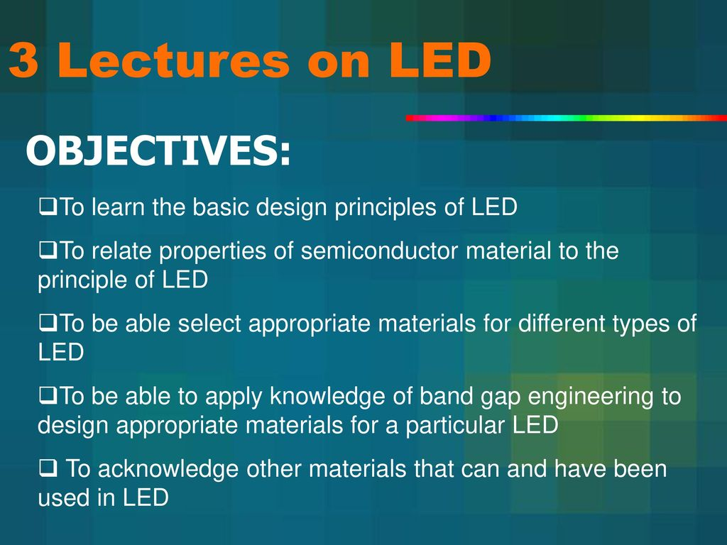 How does the LED: the principle of operation, device and features 29
