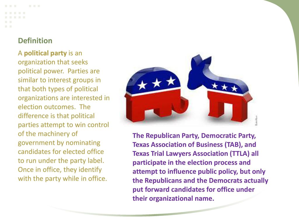 political party organization - ppt download