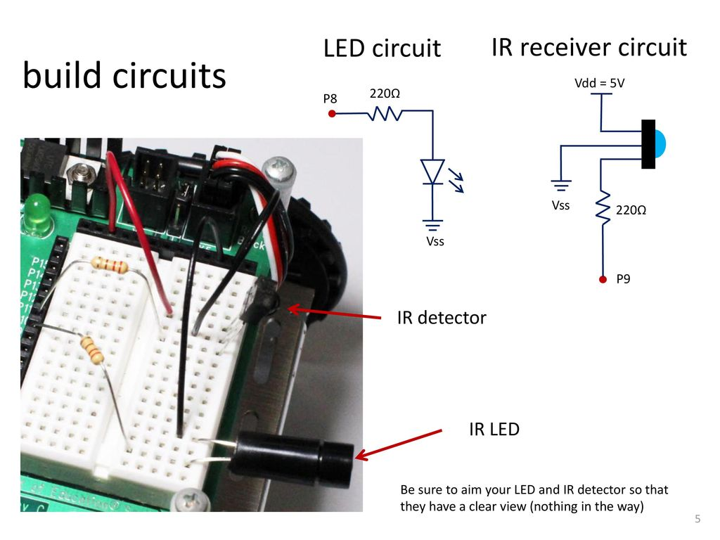 Ir Sensors For Beacon Location Ppt Download Infrared Receiver Circuit Build Circuits Led Detector