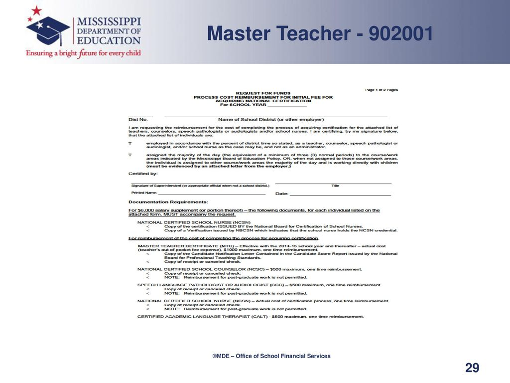 Master Teacher National Board Certification Ppt Download