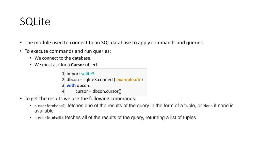 SQL Basic Python SQLite - ppt download