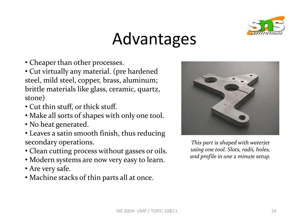 Sns College Of Engineering Coimbatore Ppt Download Circuit Board Under The Waterjet Ready To Be Sliced Pieces 14 Advantages