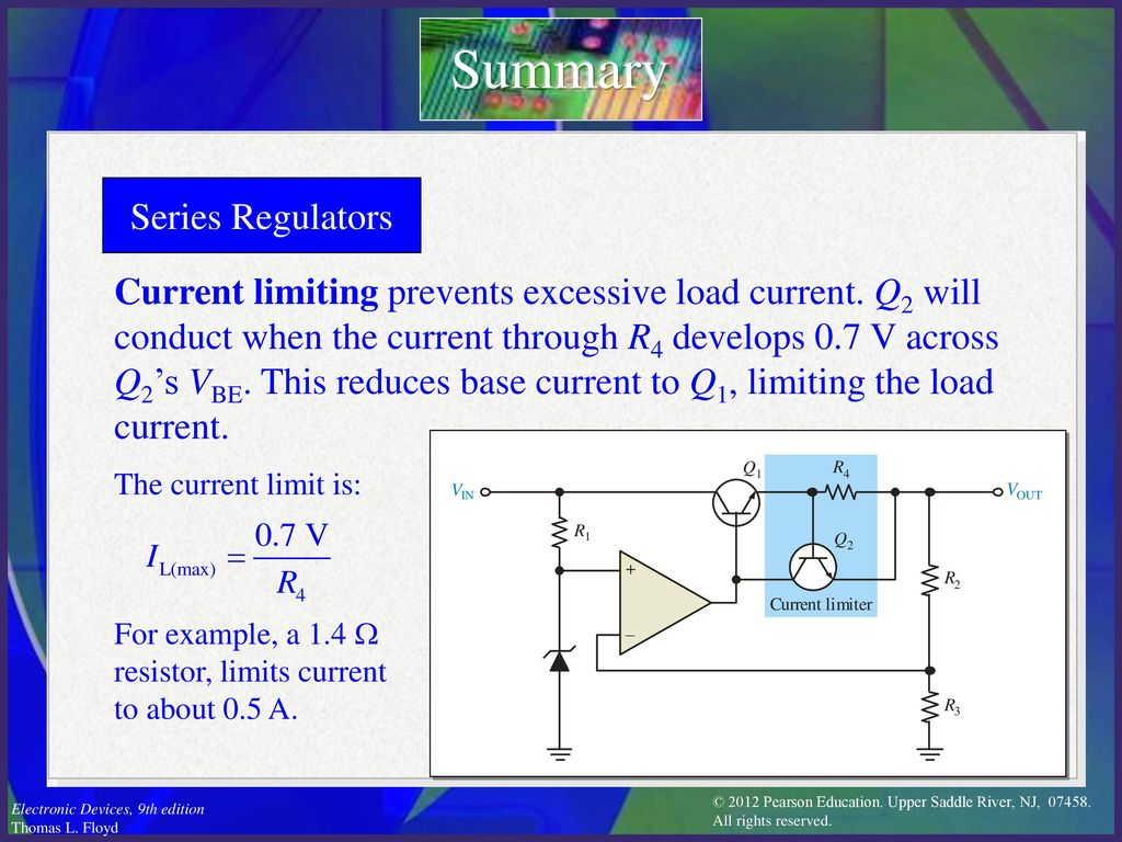 Electronic Devices Ninth Edition Floyd Chapter Ppt Download Current Limiter Transistor Limit Circuit Limiting 10 Summary Series Regulators