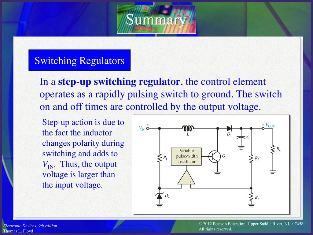Electronic Devices Ninth Edition Floyd Chapter Ppt Download Switching Regulator Time Summary Regulators
