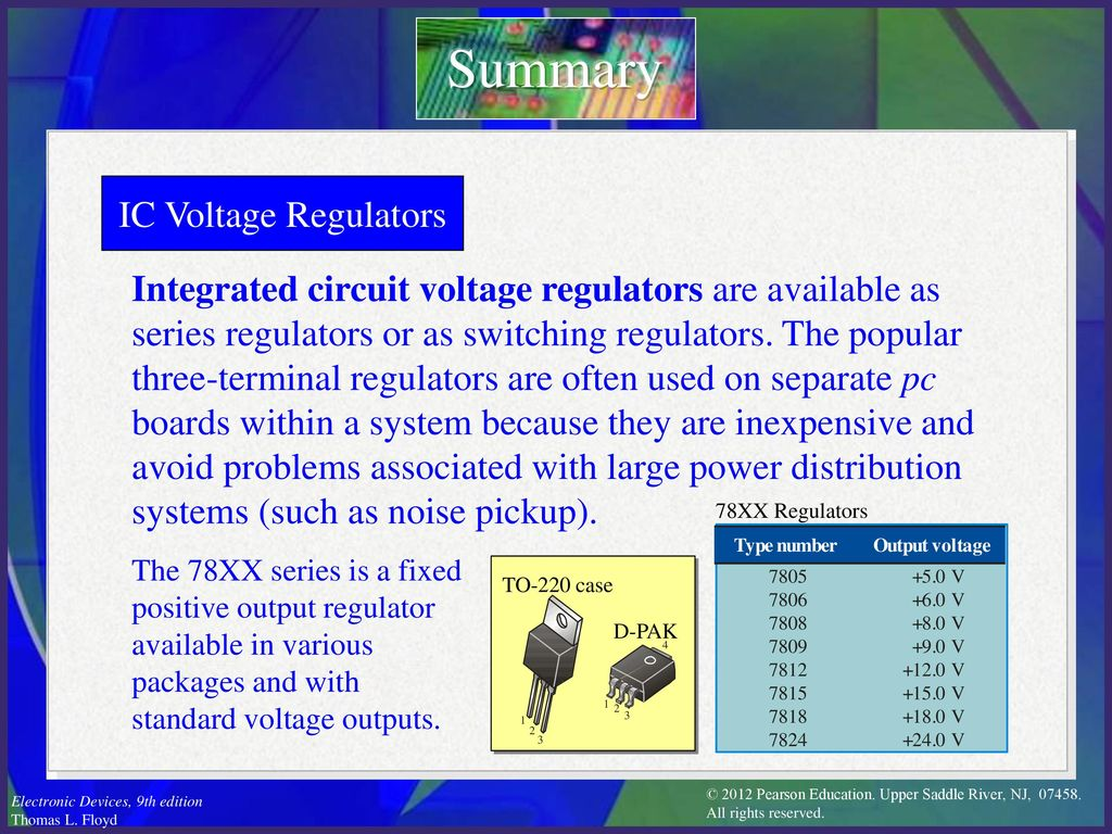 Electronic Devices Ninth Edition Floyd Chapter Ppt Download Switching Voltage Regulator Types Summary Ic Regulators