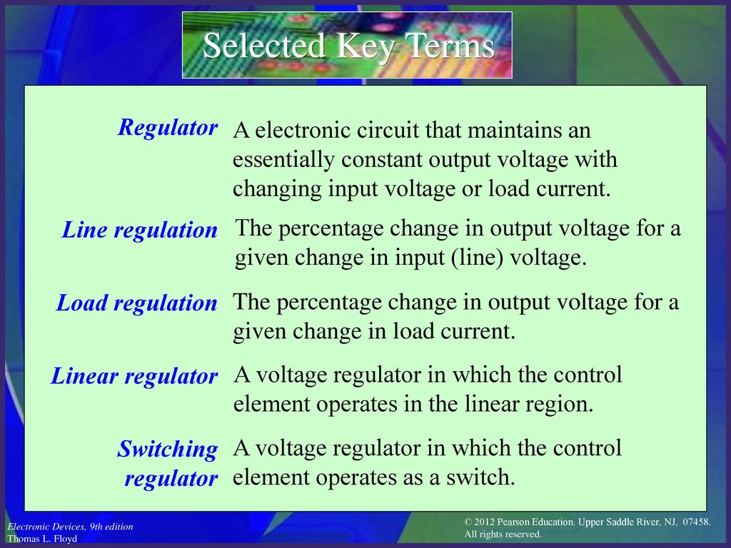 Electronic Devices Ninth Edition Floyd Chapter Ppt Download Electronics Engineering Eee Lm317 Variable Voltage Regulator Selected Key Terms