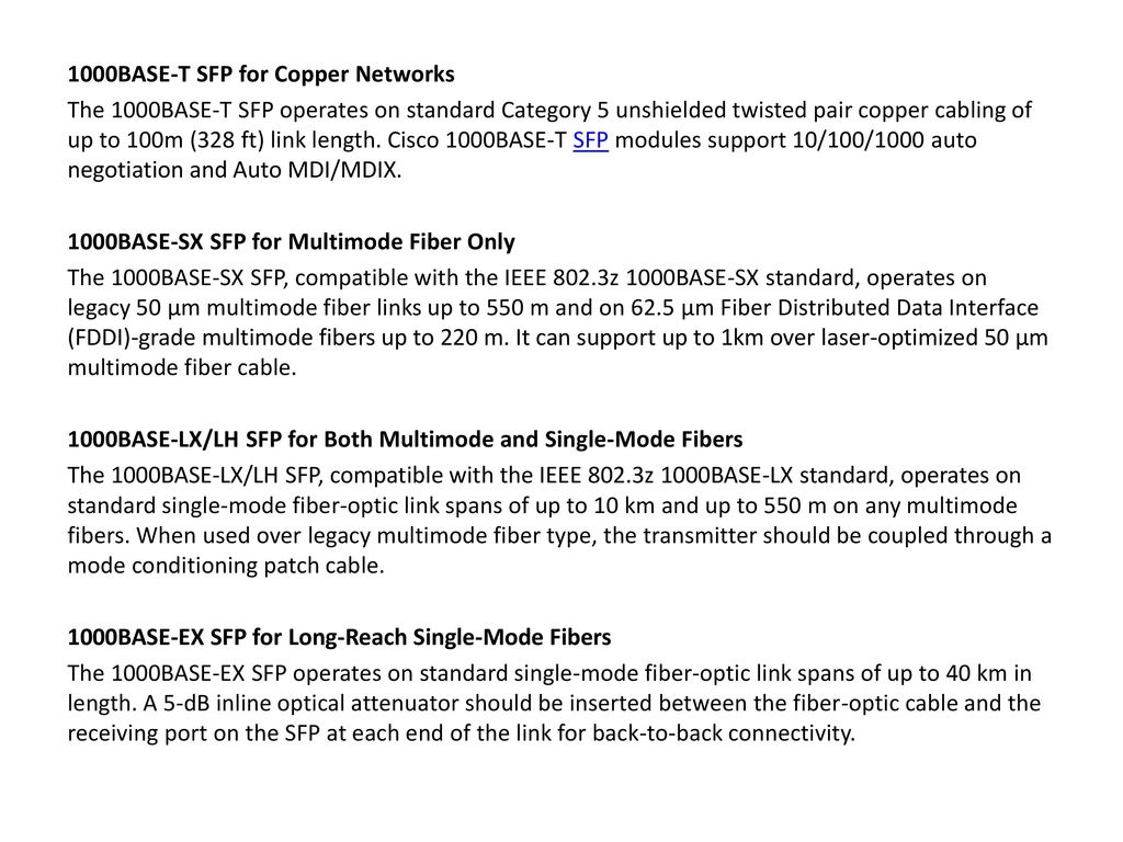 Basic Knowledge and Technical Specifications of Cisco SFP