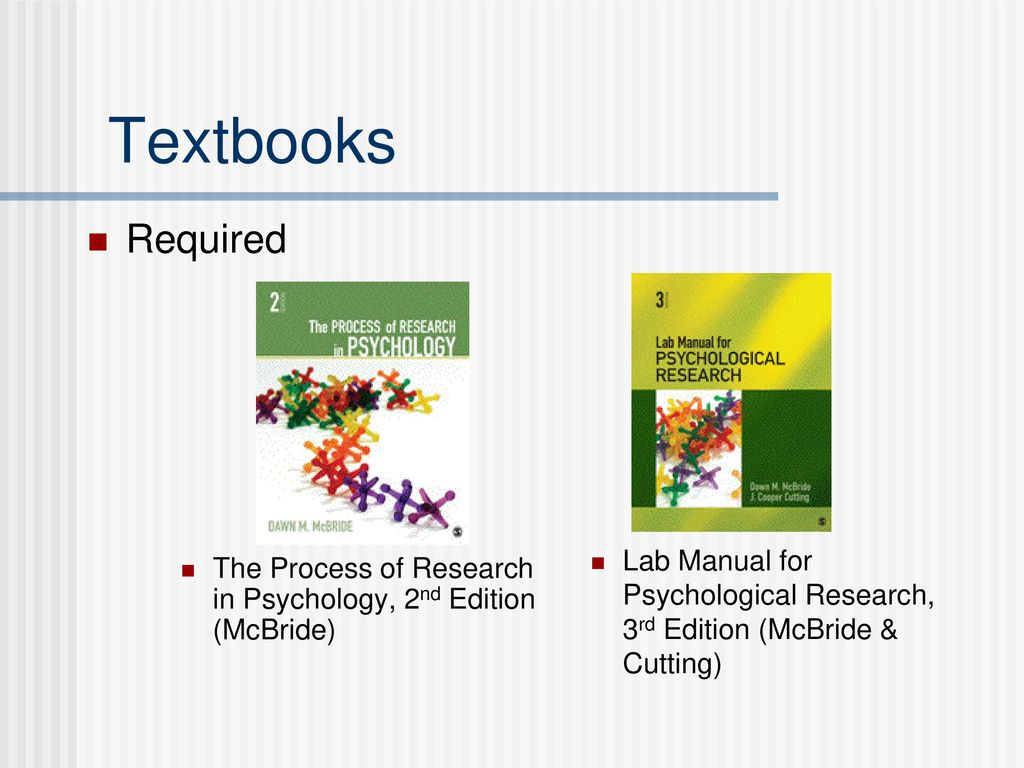 Lab Manual for Psychological Research, 3rd Edition (McBride & Cutting)
