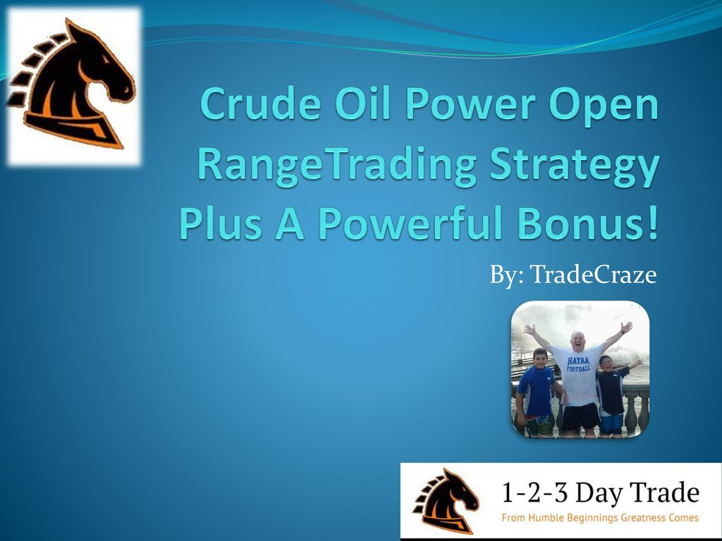 Crude Oil Power Open RangeTrading Strategy Plus A Powerful