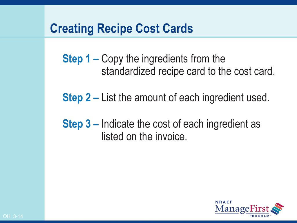 Using Standardized Recipes To Determine Standard Portion Cost Ppt Download