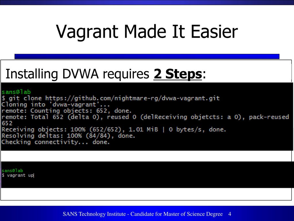 Using Vagrant to Build a Manageable and Sharable Lab Environment