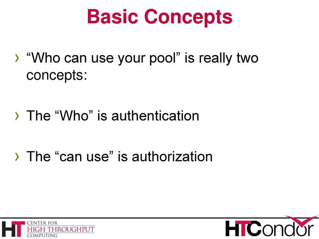 Authentication: this is what the basic concepts 66